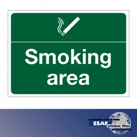 SSAF Smoking area sign