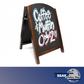 SSAF Large Wood Premier Chalk Board