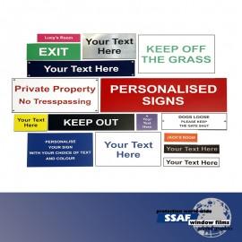 SSAF Plastic Engraving Signage