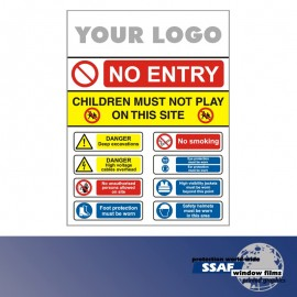 SSAF Safety Signs Add Your Logo